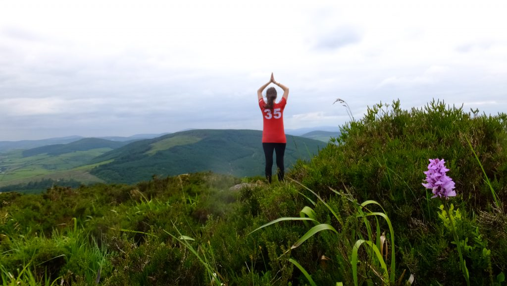 Mountain top Yoga pose